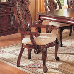 Bowery Hill Traditional Dining Arm Chair in Dark Cherry