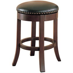 MER-757 Bowery Hill Swivel Stool in Brown and Black