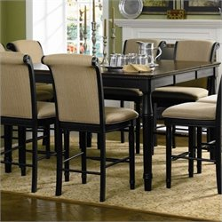 Bowery Hill Square Dining Table in Deep Black