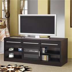 Bowery Hill Contemporary TV Stand with CONNECT-IT Power Drawer