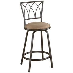 MER-757 Bowery Hill Metal Stool in Black and Brown1