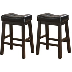 MER-757 Bowery Hill Upholstered Seat Stool in Black