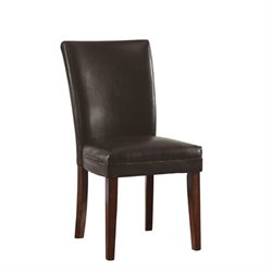 Bowery Hill Parson Dining Chair in Brown