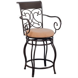 MER-757 Bowery Hill Metal Stool in Brown1