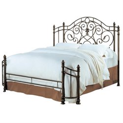 Bowery Hill Queen Spindle Headboard and Footboard in Antique Green