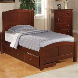 Bowery Hill Twin Panel Bed in Deep Dark Cappuccino