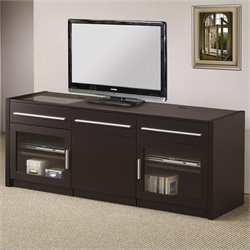 Bowery Hill Contemporary TV Stand in Cappuccino