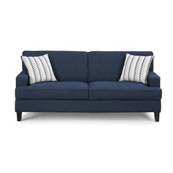 Bowery Hill Linen Sofa in Blue