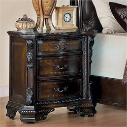 Bowery Hill Nightstand in Brown Cherry
