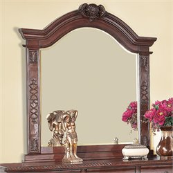 Bowery Hill Mirror in Warm Cherry