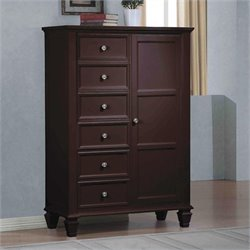 MER-757 Bowery Hill 6 Drawer Armoire with Door