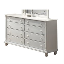 Bowery Hill 8 Drawer Dresser in Distressed White