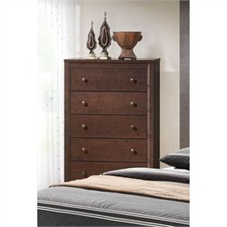 Bowery Hill 5 Drawer Chest in Cherry