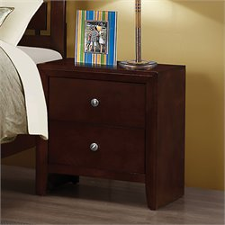 Bowery Hill 2 Drawer Nightstand in Rich Merlot