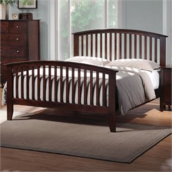 Bowery Hill Queen Spindle Bed in Warm Cappuccino