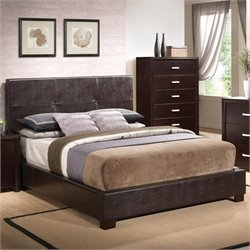 Bowery Hill Vinyl Padded Bed
