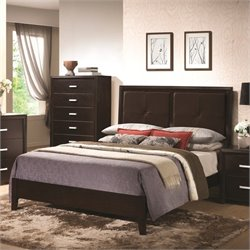 Bowery Hill Padded Headboard Bed