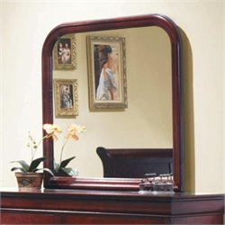 Bowery Hill Vertical Mirror in Rich Cherry