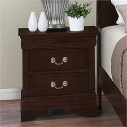 Bowery Hill 2 Drawer Nightstand in Cappuccino