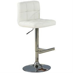 Bowery Hill Contemporary Adjustable Chrome Bar Stool