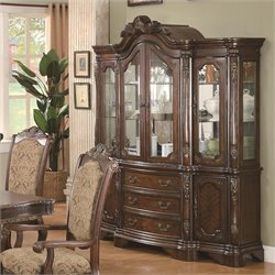 Bowery Hill China Cabinet in Warm Brown