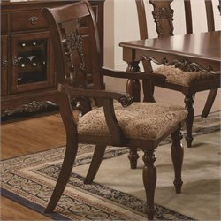 Bowery Hill Splat Back Dining Arm Chair in Cherry