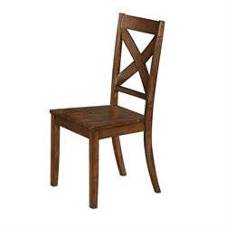 Bowery Hill X-Back Dining Chair in Rustic