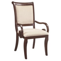 Bowery Hill Dining Arm Chair in Rich Cherry
