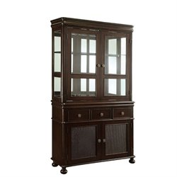 Bowery Hill China Cabinet in Deep Cherry