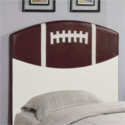 Bowery Hill Twin Football Panel Headboard in Brown