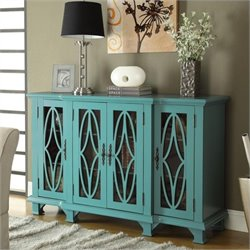 MER-757 Bowery Hill Console Table with Glass Doors