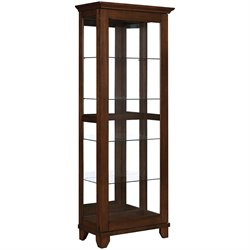 MER-757 Bowery Hill 5 Shelf Curio Cabinet with Can Lighting