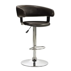 Bowery Hill Adjustable Rounded Back Bar Stool