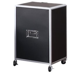 Bowery Hill Mobile Cabinet in Black and Silver