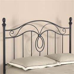 Bowery Hill Queen Spindle Headboard in Gunmetal