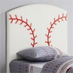 Bowery Hill Twin Baseball Panel Headboard in White