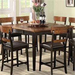 Bowery Hill Square Dining Table in Brown