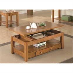 Bowery Hill Lift Top Coffee Table in Oak
