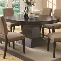Bowery Hill Oval Dining Table with Extension in Coffee
