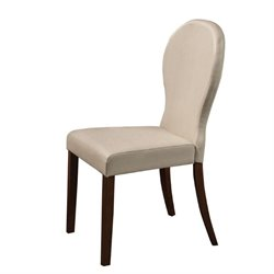 Bowery Hill Faux Leather Upholstered Dining Chair in Ivory