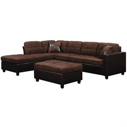 MER-757 Bowery Hill Fabric Left Facing Sectional
