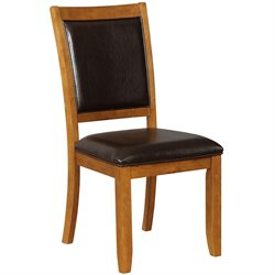 Bowery Hill Upholstered Dining Side Chair in Dark Brown