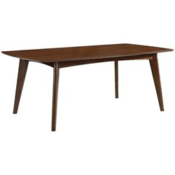 Bowery Hill Mid Century Modern Casual Dining Table in Walnut