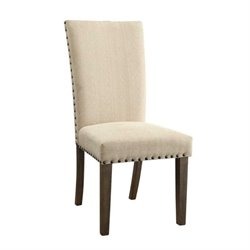 Bowery Hill Transitional Style Dining Chair in Beige