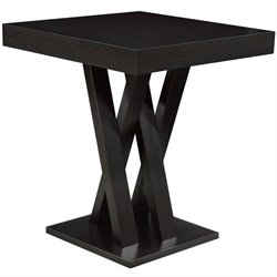 Bowery Hill Crisscross Pub Table in Cappuccino