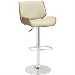 Bowery Hill Adjustable Bar Stool in Cream