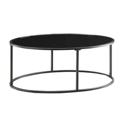 Bowery Hill Oval Coffee Table in Black and Gunmetal