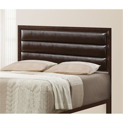 Bowery Hill Upholstered Headboard in Cappuccino
