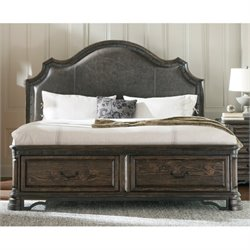 Bowery Hill Storage Bed with Drawers in Vintage Espresso