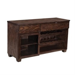 Bowery Hill Wine Rack Buffet in Dark Brown